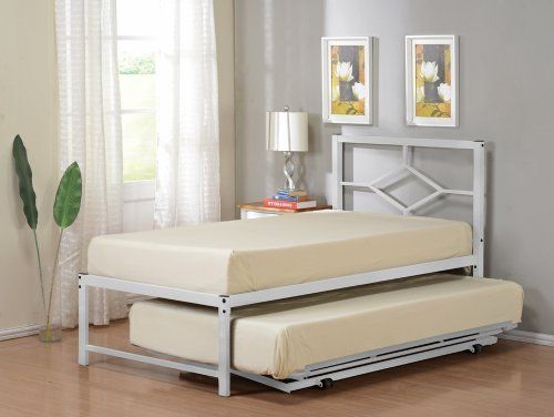 Twin Size Metal Hirise Day Bed Frame With Headboard Amp Pop