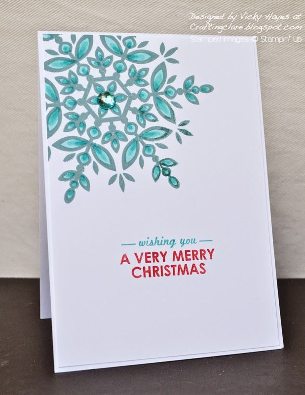 Stampin Up Festive Flurries stamp coloured with blendabilities