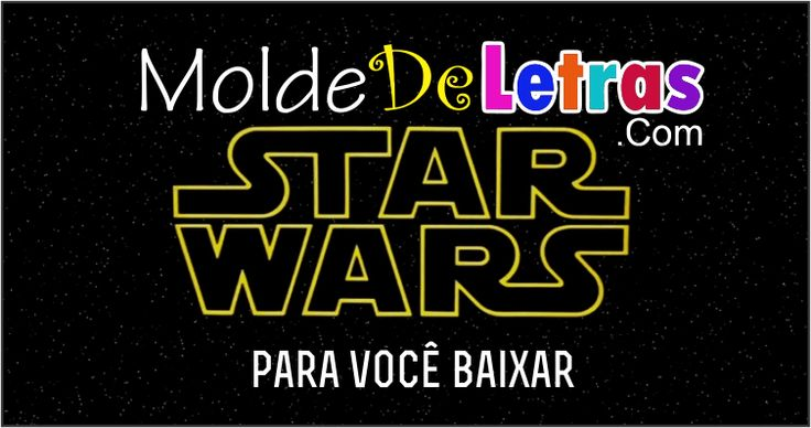Molde de Letras Star Wars                                                                                                                                                     Mais