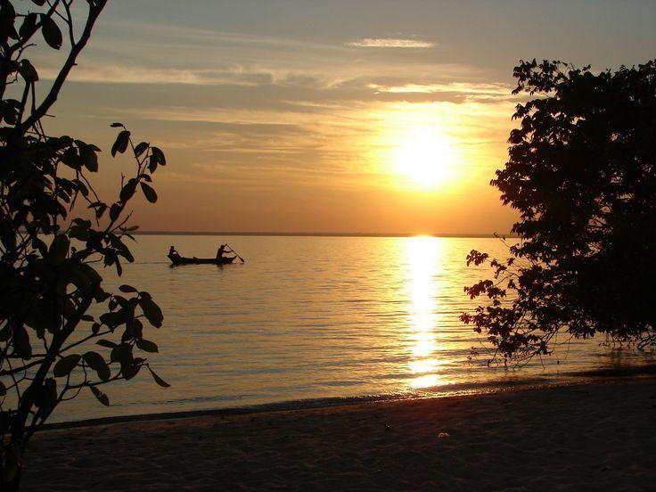 Pôr do sol na Amazônia. #Brasil #Viagem