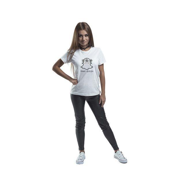 T-Shirts mit Print - T-shirt  SNAPQUEEN Geist - ein Designerstück von MoodyMood bei DaWanda