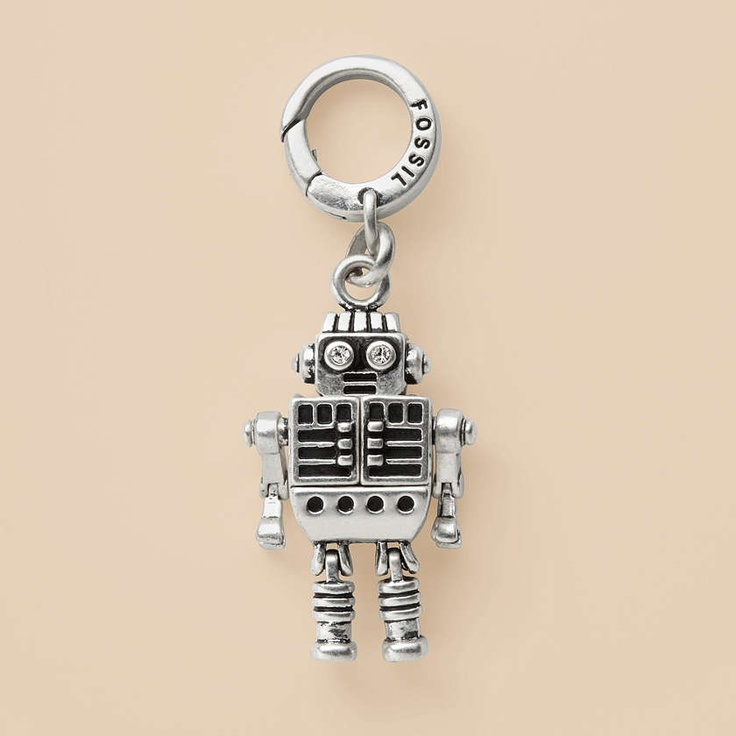 fossil jewelry charms women robot charm ja4916 robots. Black Bedroom Furniture Sets. Home Design Ideas
