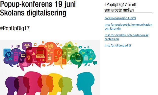 Popup-konfrens om skolans digitalisering