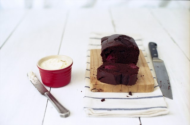 Cocoa Coffee Bread with Raspberries