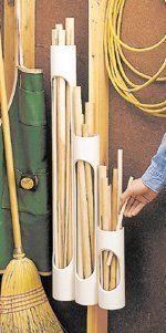 Dübel kavalye ve çıtalar için PVC stant.