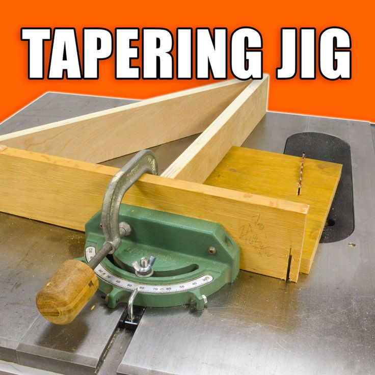 How to Make a Mitre Gauge Tapering Jig for the Table Saw. #woodworking