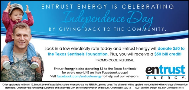 #Entrust Energy to donate $50 for each new customer through July 9
