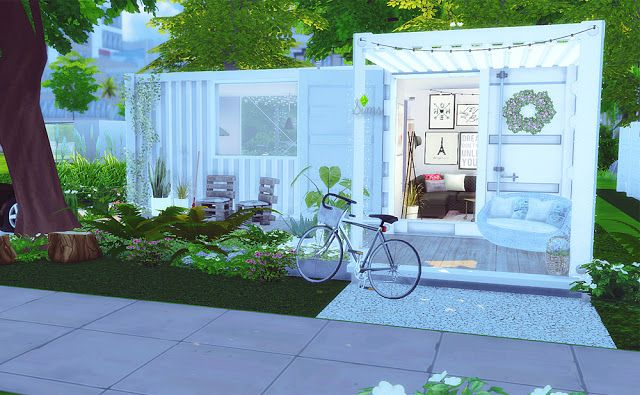 Sims 4 Houses and Lots: Minimalist Container House