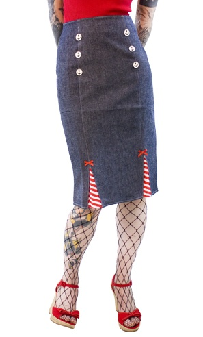 """In less than 3 weeks July 4th will be here. Everyone always dresses the part to be more """"mericana"""" than the other. The Miss Fortune Nautical Skirt will stand out among the rest! Take a peek!   $68.00"""