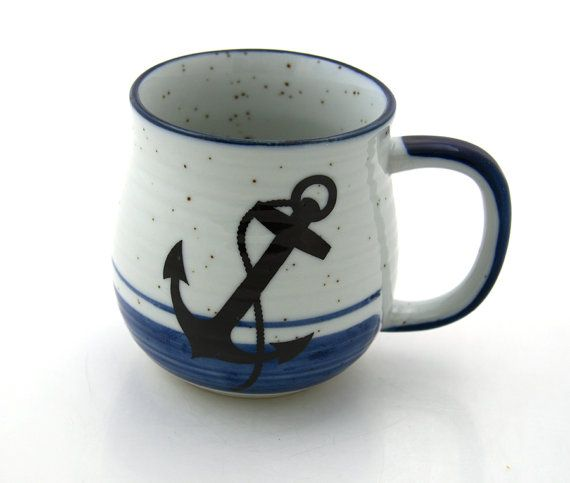 anchor mug by LennyMud on Etsy