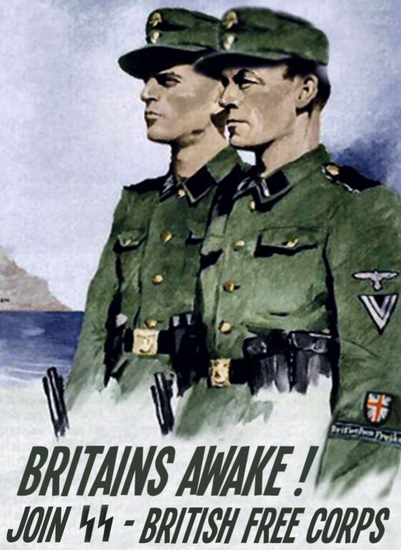 Nazi Poster for the British Free Corps.