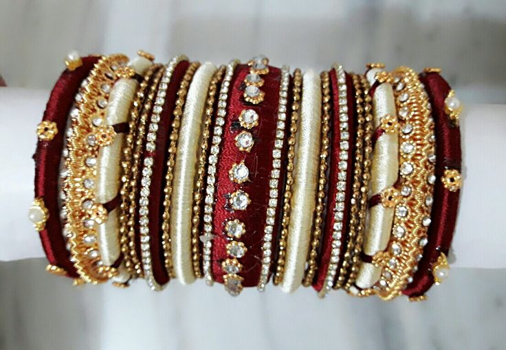 Silk thread bangles... Made on order to my customer.. To order whatsapp: +918790245879.. delivery can b done all over world..