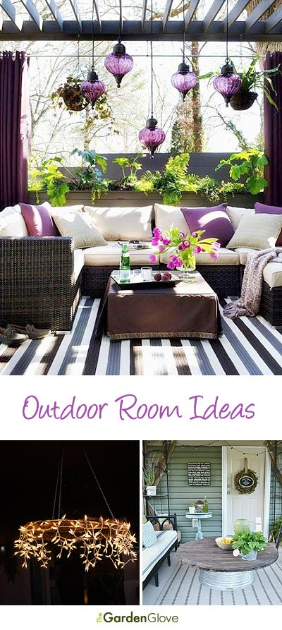 Outdoor Room Ideas • Tips & Tutorials!...strain our round table & put on tree stump use with Adirondack chairs