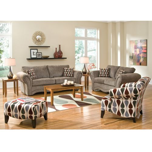 Our Cobblestone Living Room Group By Woodhaven Includes Sofa Loveseat Coffee Table Two End Tables And Lamps Rug