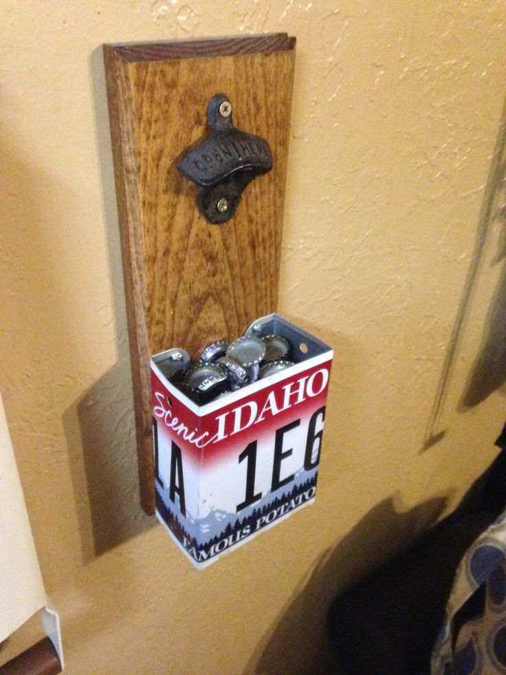 Homemade bottle opener with Idaho license plate!