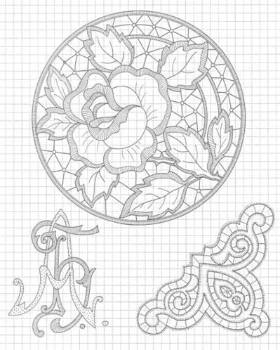 Схема вышивки work design
