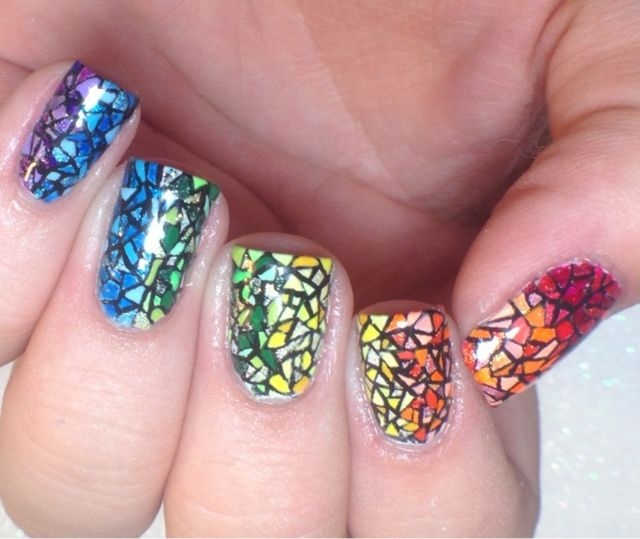 Stained Glass Nail Art: Stained Glass Nails