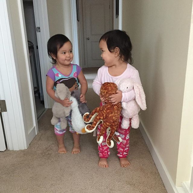 Instagram media by itsjudytime - Many years ago I envisioned twin girls at the end of this hallway. Back then, this wasn't exactly what I pictured (the shining ) but this is much, much better . #keirabear #miyabear #itsmommyslife
