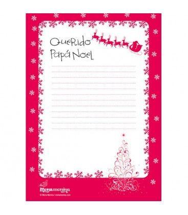 Hemos preparado esta plantilla imprimible de Carta a #PapaNoel para que plasmes en ella toooodos los regalos que vayas a pedirle a Santa este año! #cartapapanoel #FelizNavidad #monamonina