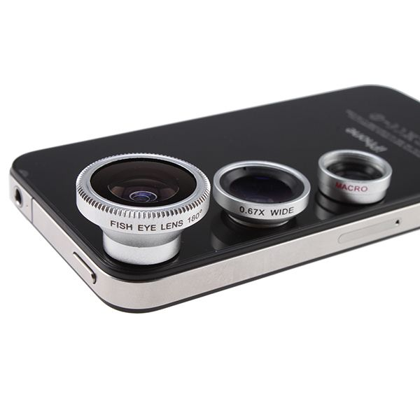 To get Instagramming on the next level: Fisheye, Macro and Wide Angle Phone Lens Set