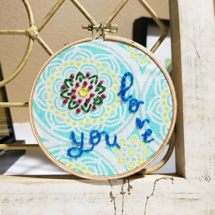 Excited to share the latest addition to my #etsy shop: Hoop Art Wall Hanging, Love You Hand Stitched Embroidered Quote Home Decoration, Unique Gift For Girlfriend or Mother http://etsy.me/2EGoITs