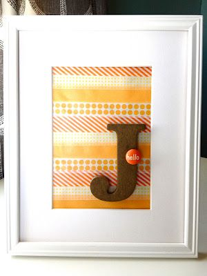 Paper Fab: washi tape initial art DIY