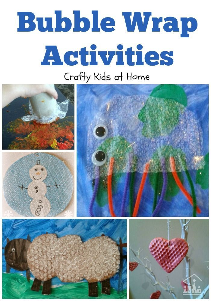 We love using Bubble Wrap in our activities over here at Crafty Kids at Home.It is great for making crafts, painting projects and sensory play. Find all of our bubble wrap ideas here.
