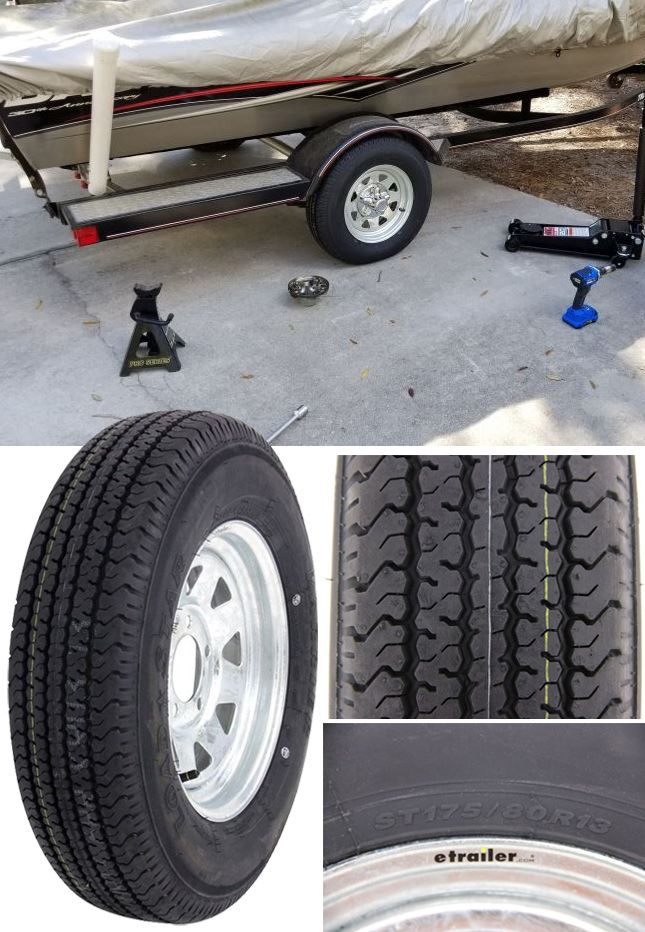 Special trailer tire design for your boat trailer couples the strength of a bias tire with the durability and stability of a radial tire. These tires were created specifically for trailers and not intended for use on other vehicles. Double steel belts and full nylon plies combine for superior function and long life.