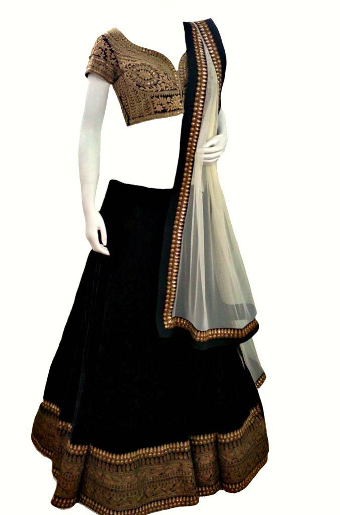 Velvet Contemporary Lehenga — IFE Deepak Shekhar — Lehengas | Indianhanger.com