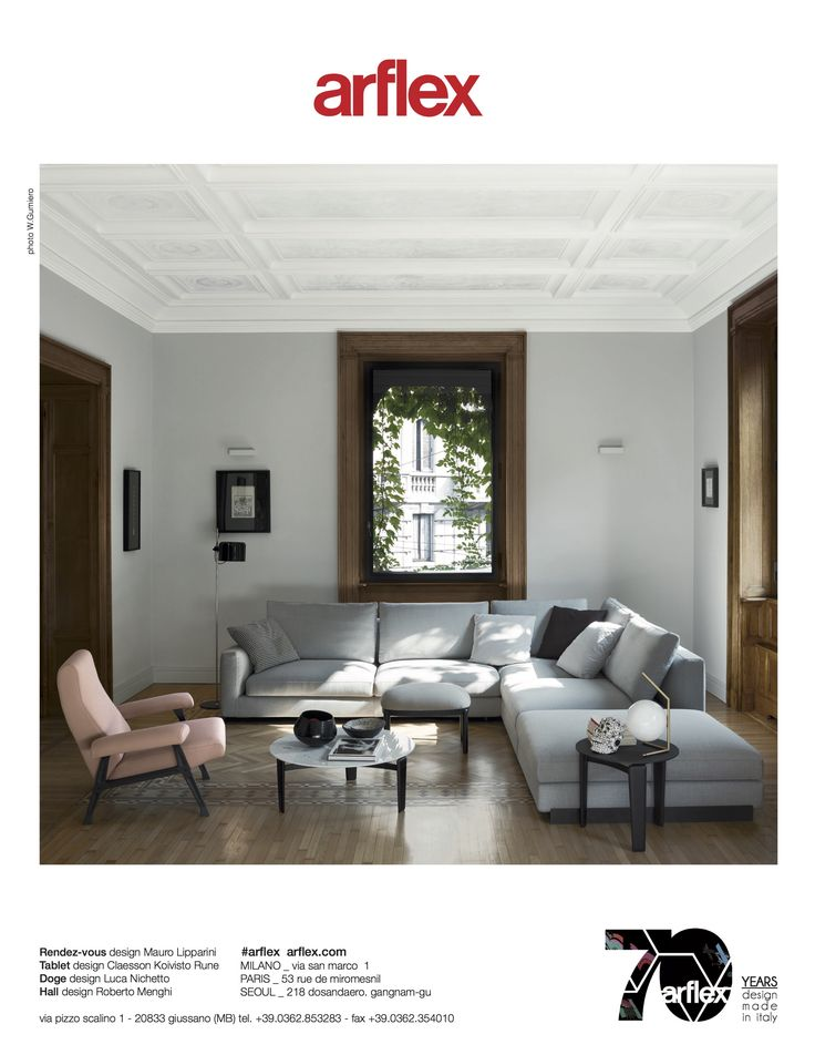 arflex - New advertising campaign - Rendez -vous sofa design Mauro Lipparini , Hall armchair design Roberto Menghi - The original- Tablet small table design Claesson Koivisto Rune- magazine AD #arflex #advertising #rendezvous #sofa #maurolipparini #hall #robertomenghi #theoriginaldesign #tableb #claessonkoivistorune #photowaltergumiero #madeinitaly #luxury #admagazine #itsarflextime #staytuned www.arflex.it follow us on instagram @arflex_official