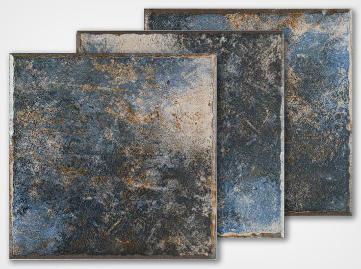 Aquabella Waterline Tile Blue Brown Kona Pool