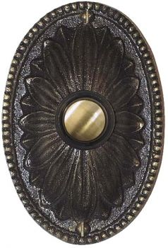 Shop for the Classic Oval Doorbell Button by Waterglass Studios Ltd. and compare to other Doorbell Buttons. A decorative beaded rim and flower design at its ...  sc 1 st  Pinterest & 10 best Doorbells images on Pinterest | Door accessories Doorbell ...