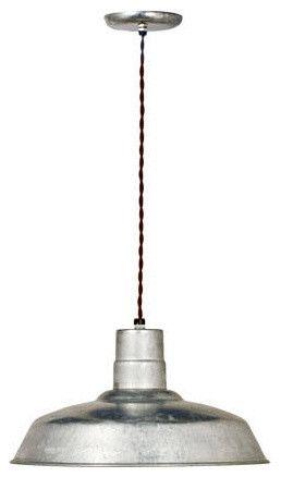 $104.00 - Barn Light Electric Company; Industrial Twist Cord 16 Warehouse Pendant modern pendant lighting