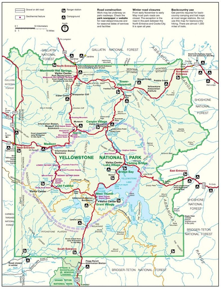 United States Map Showing Yellowstone National Park Yellowstone - Yellowstone map us