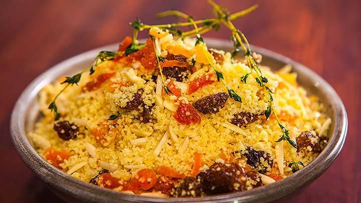 Dried fruit and nut couscous