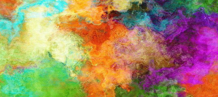 Colorful fog art