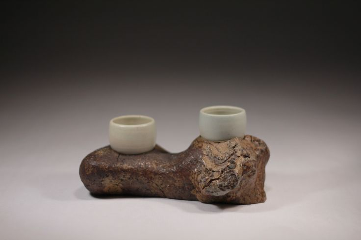 Found stoneware, porcelain, wood fired, Daniel Cavey