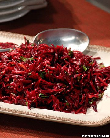 From Martha Stewart, grated beet salad.