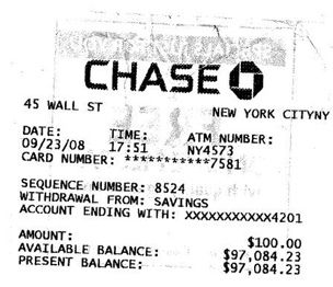I thought I was the only one who kept other peoples ATM receipts. LOL. Need my bank account to look like this!!