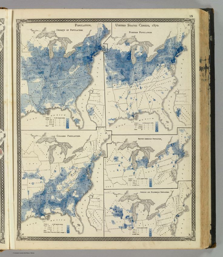United States Population Density 1900 Oral