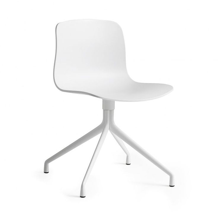 HAY - About a Chair 10 Swivel Chair - white/frame aluminium powder-coated in white/with plastic gliders