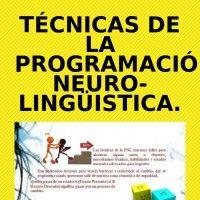 Técnicas de la Programación Neuro-lingüistica. Espinosa Luna Rubén, Sánchez Sánchez Luciano
