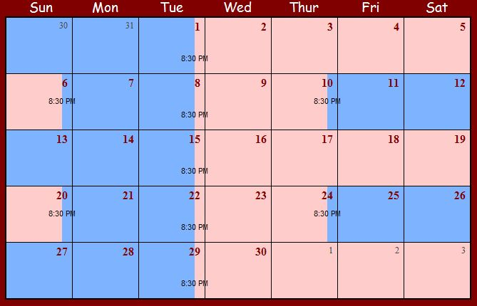 Sample Child Custody Schedules for a Shared Parenting Plan