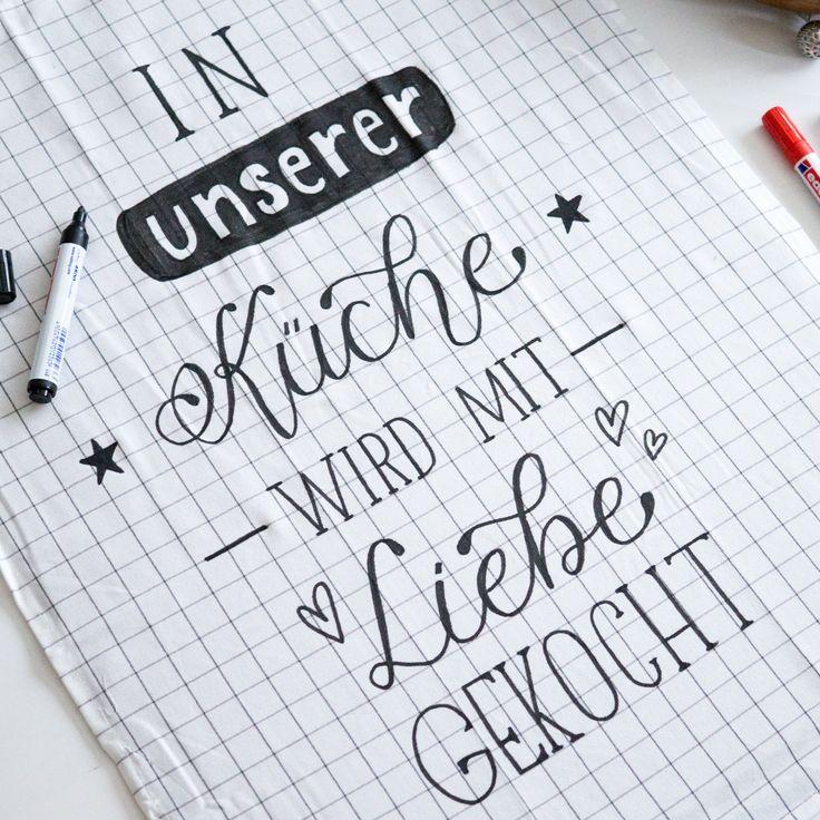 In unserer Küche wird mit Liebe gekocht (Handlett…