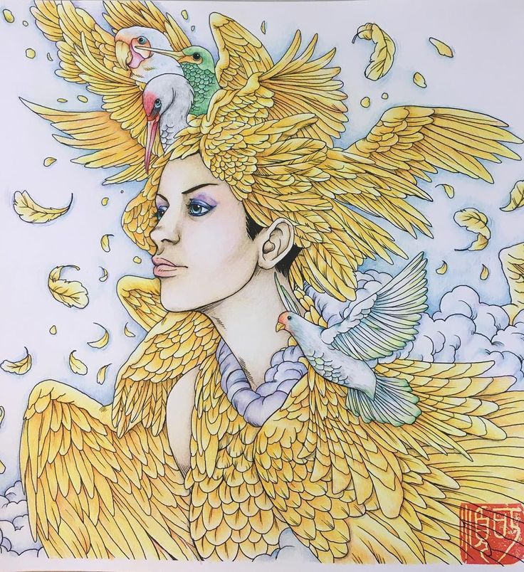 Page From Fantasia Adult Colouring Book By Nicholasfchandrawienata Coloured With Caran Dache
