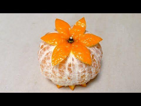 Orange Mandarin Simple Decorating - Beginners Lesson 79 By Mutita Art Of Fruit and Vegetable Carving - YouTube
