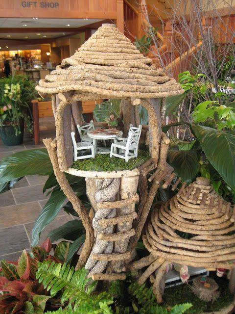 Wonder what these are made of maison de f e et lutin pinterest jardins arbres et f es - Jardin de fee ...