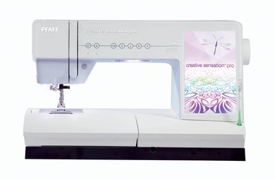The newest top of the line sewing machine is here - The Creative Sensation Pro. This machine is incredible and we have a floor model all set up, waiting for you to come play with it. :)