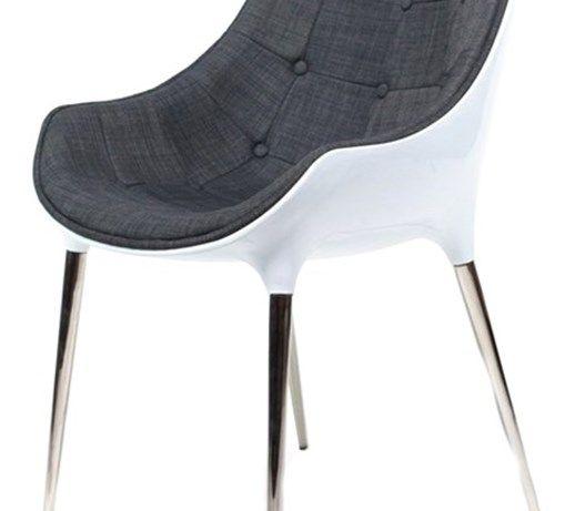 Krzesło King Bath Philippe Passion tkanina szara kod: EV-KA-051.SZ.B - do kupienia: www.superwnetrze.pl - Krzesła kuchenne - zdjęcia, pomysły, inspiracje - Homebook