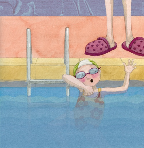"En la piscina  ""A la piscina por primera vez""  Ed. Sieteleguas"